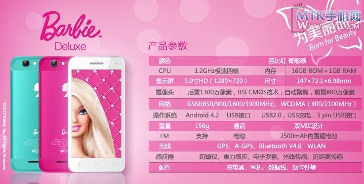 乐蜂网芭比手机正式开始预售 售价2199元 - mtk手机网